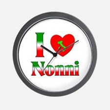 I Love (heart) Nonni Wall Clock