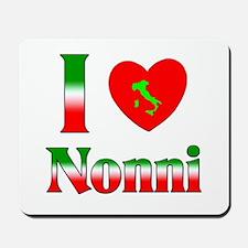 I Love (heart) Nonni Mousepad