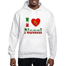 I Love (heart) Nonni Hoodie