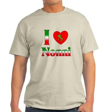 I Love (heart) Nonni Light T-Shirt