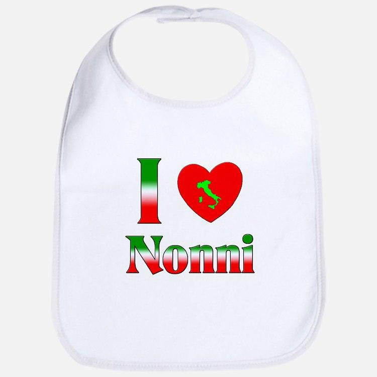 I Love (heart) Nonni Bib