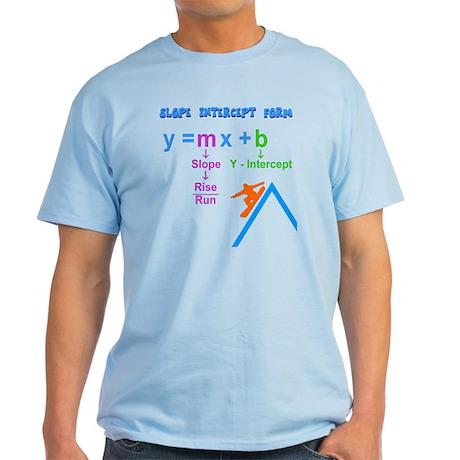 Slope Intercept Form Light T-Shirt