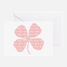 Pink Shamrock Ava Greeting Card