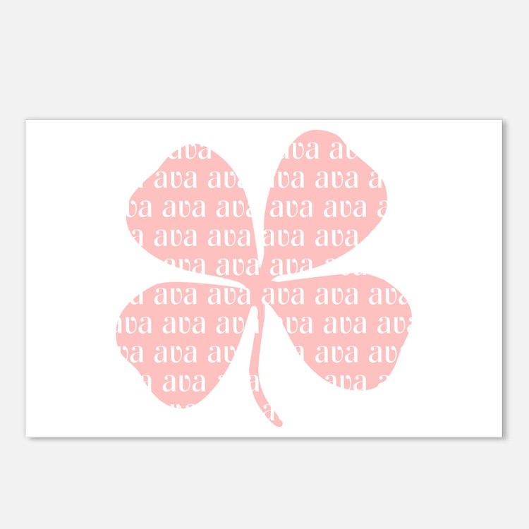 Pink Shamrock Ava Postcards (Package of 8)