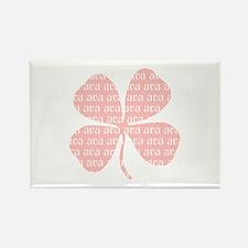 Pink Shamrock Ava Rectangle Magnet