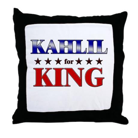 KAHLIL for king Throw Pillow