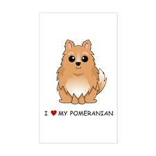 Pomeranian Rectangle Decal
