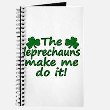 Leprechauns Made Me Do It Journal
