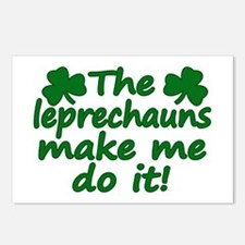 Leprechauns Made Me Do It Postcards (Package of 8)