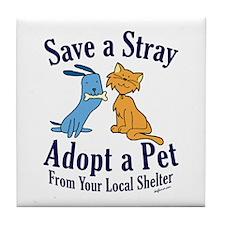 Save a Stray Tile Coaster