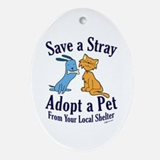 Save a Stray Oval Ornament