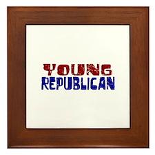 Young Republican Framed Tile