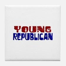 Young Republican Tile Coaster