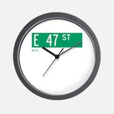 47th Street in NY Wall Clock