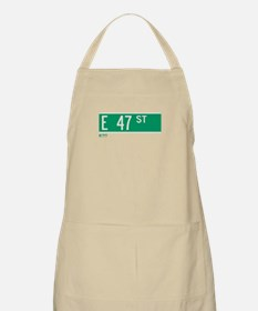 47th Street in NY BBQ Apron