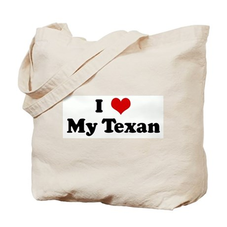 I Love My Texan Tote Bag