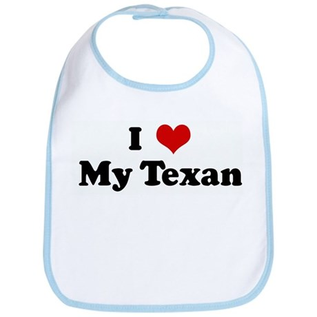 I Love My Texan Bib
