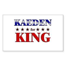 KAEDEN for king Rectangle Decal