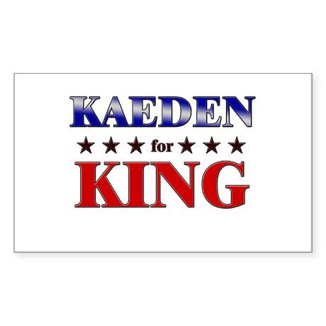 KAEDEN for king Rectangle Sticker