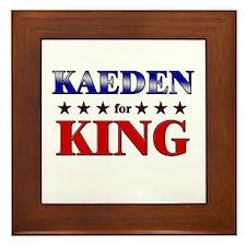 KAEDEN for king Framed Tile