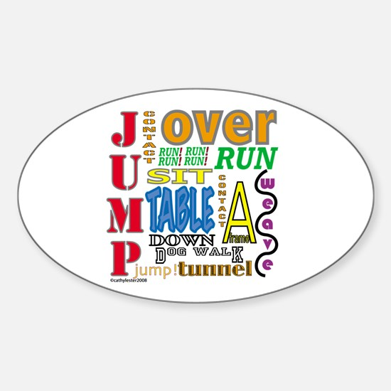 Agility Commands Oval Decal