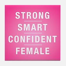 Strong Smart Confident Female Tile Coaster