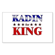 KADIN for king Rectangle Decal
