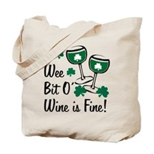 Wee Bit O' Wine Tote Bag