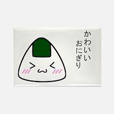 """Cute Riceball"" Rectangle Magnet"
