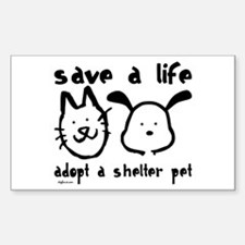 Save a Life - Adopt a Shelter Pet Bumper Stickers