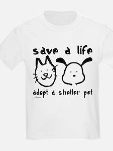 Save a Life - Adopt a Shelter Pet T-Shirt