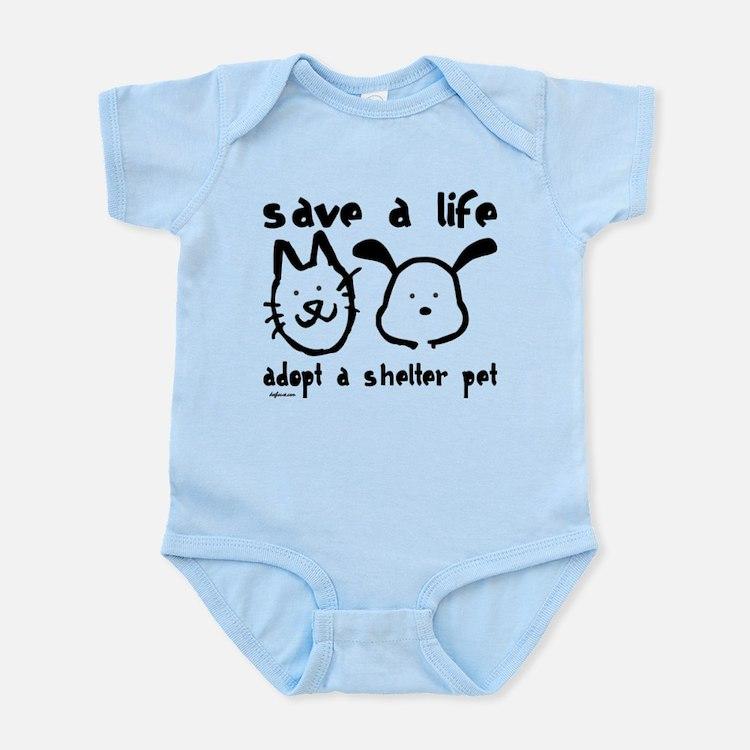Save a Life - Adopt a Shelter Pet Infant Bodysuit
