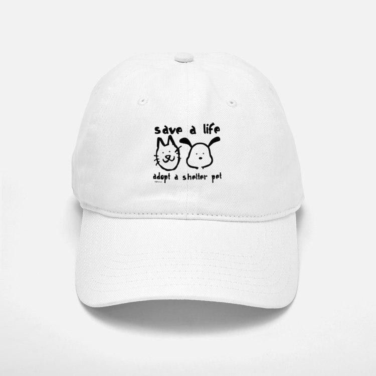 Save a Life - Adopt a Shelter Pet Baseball Baseball Cap