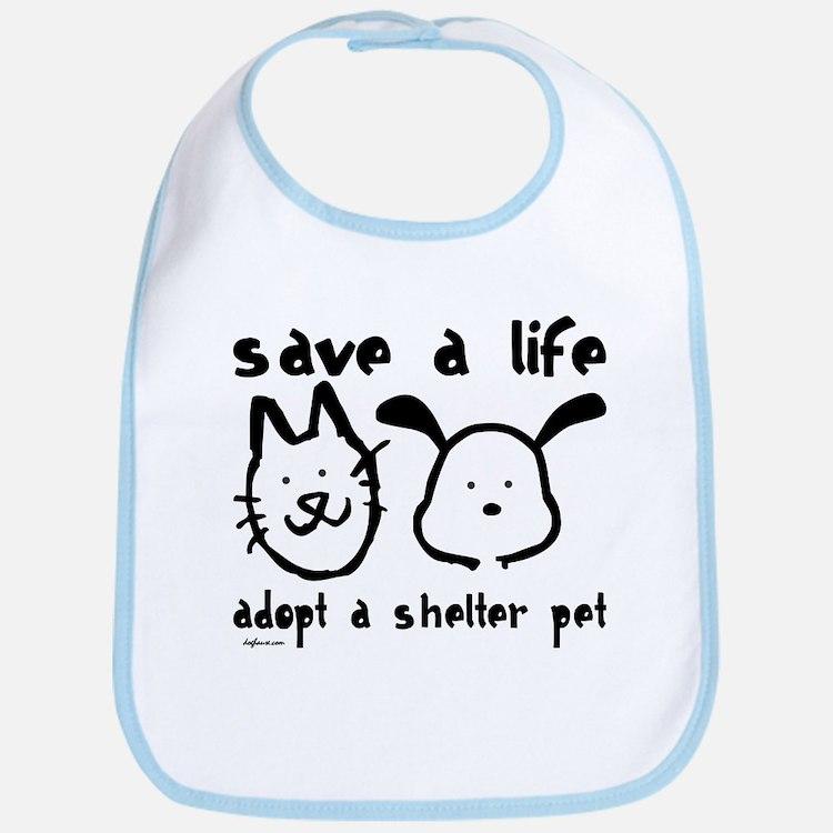 Save a Life - Adopt a Shelter Pet Bib