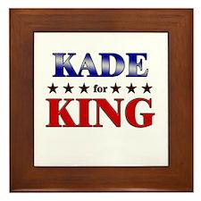 KADE for king Framed Tile