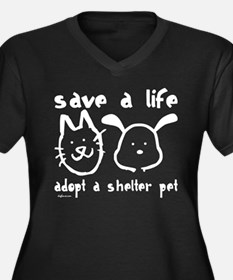 Save a Life - Adopt a Shelter Pet Women's Plus Siz