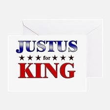 JUSTUS for king Greeting Card
