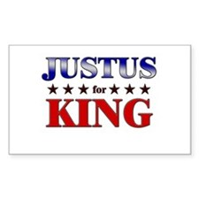 JUSTUS for king Rectangle Decal