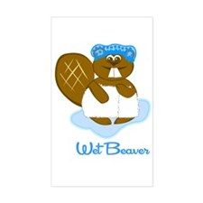 Wet Beaver Rectangle Decal