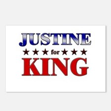 JUSTINE for king Postcards (Package of 8)