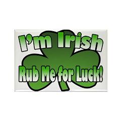 I'm Irish Rub Me for Luck Rectangle Magnet (10 pac
