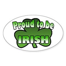 Proud to be Irish Oval Sticker