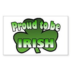 Proud to be Irish Rectangle Sticker