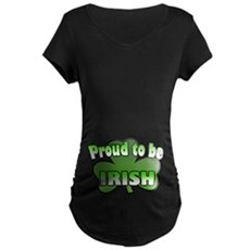 Proud to be Irish Maternity Dark T-Shirt