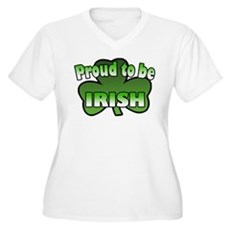 Proud to be Irish Women's Plus Size V-Neck T-Shirt