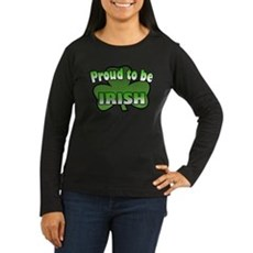 Proud to be Irish Women's Long Sleeve Dark T-Shirt