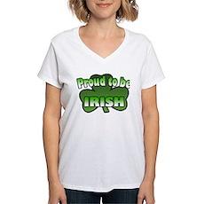 Proud to be Irish Women's V-Neck T-Shirt