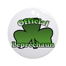Official Leprechaun Ornament (Round)
