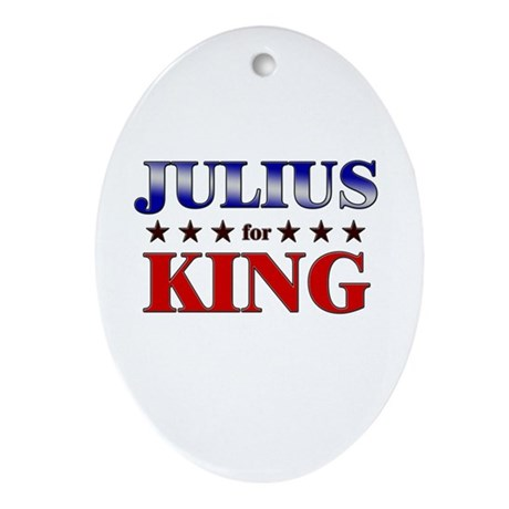 JULIUS for king Oval Ornament