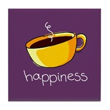 Happiness is Coffee Tile Coaster